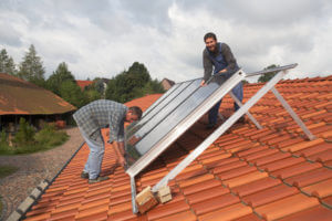 Solarthermie Installation