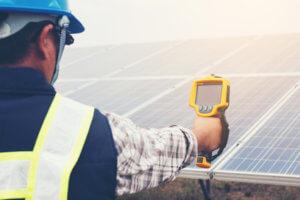 Solarzellen Temperaturmessung